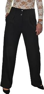 ICE Pantaloni da Ufficio Smart Day Gamba Larga Gamba Dritta da Donna 42-54