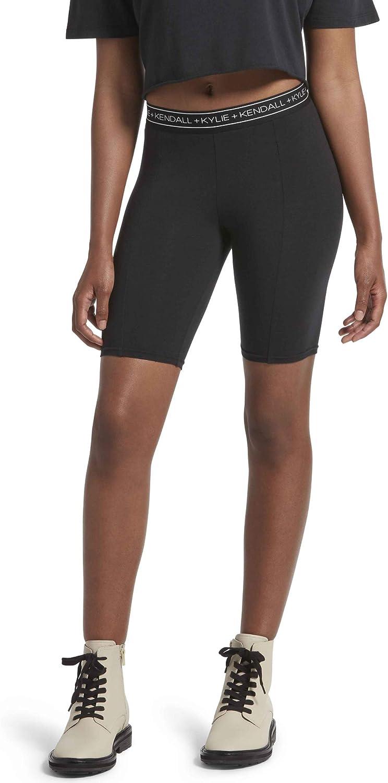 KENDALL + Popular brand in the world KYLIE Women's Super intense SALE Bike Short Logo Cotton