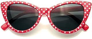 Polka Dot Cat Eye Womens Fashion Mod Super Cat Sunglasses
