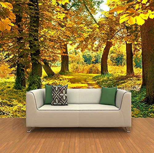 3D Wallpaper Mural Photo Luxury Non-Woven Mural-Wall Mural Wall Paper 3D Hd Autumn Landscape Wall Painting Living Room Non-Woven Wallpaper- 200 * 140cm