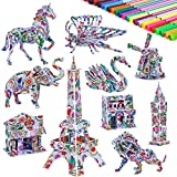 mloong 3D Coloring Puzzle Set,10 Pack DIY Arts Crafts Coloring Painting Toys Set with 48 Pen Markers for Kids Age 5-12 Fun Creative DIY Toys Gift for Girls and Boy(10pack)