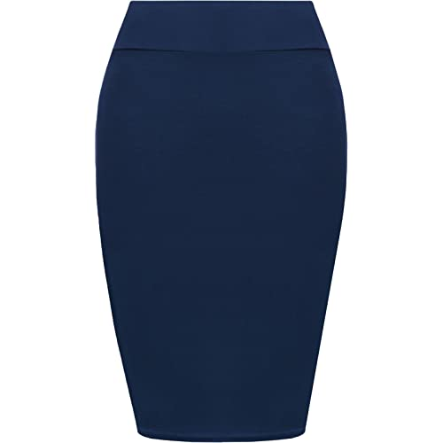7f966d7931 Pretty Fashion Plain Pencil Skirt | Women's Midi Pencil Skirt | Ladies  Jersey Bodycon Skirt Plus