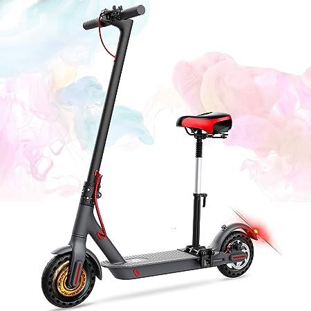 GeekMe Patinete eléctrico con asiento de 8,5 pulgadas 25 km ...