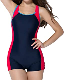 Linyuan ファッション Women's Boyleg 水着?オーバーウェア Swimwear Swimsuit Ladies Swimming Costume Bathing Suit Full Size