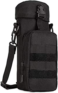 AIMILL Tactical Water Bottle Sleeve Carrier Pouch with Shoulder Strap,Protable Adjustable, Molle Water Bottle Holder for Backpack,Biking Running Hiking Camping Travelling