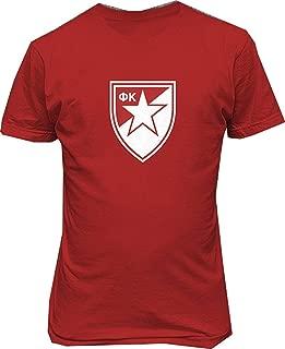 Conla Mens FC Crvena Serbia Red Star Belgrade Soccer Football Custom Cotton Tee Shirt