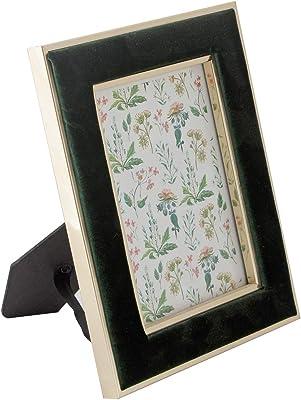 HomeTown Living Essence Vista Green Velvet Finish 5X7 Inch Plastic Photo Frame