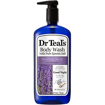 Dr Teal's Pure Epsom Salt Body Wash Soother & Moisturize With Lavender 24 Ounce (04158-4PA)
