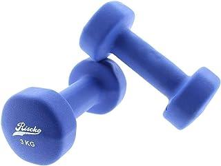 Riscko - Set de 2 Mancuernas con Revestimiento de Vinilo | Ejercicio Fitness | Entrenamiento en Casa | Gimnasio | Pesos de 1 a 10 Kg