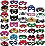 Maschere di Supereroi 38 Pezzi , Supereroe per feste, Maschere Supereroi Per Bambini, Maschere Feltro Mascherine del Partito, Supereroi Maschere Cosplay Per Bambini Adulti (Maschere di supereroi)