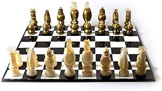 YourMurano Murano Glass Sculpture, Unique Sculpture, Glass Chess, Blown Glass, Modern Sculpture, Handmade, 100% Trademark of Origin Guaranteed, Glass Chessboard