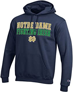 Champion Notre Dame Fighting Irish Mens Hoodie Sweatshirt Fight Navy