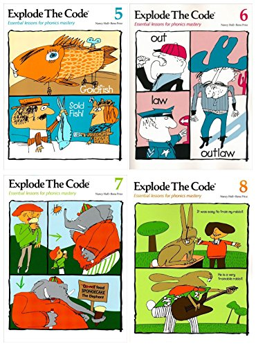 Explode the Code 4 Books SET: Book 5, 6, 7 and 8
