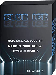 Blue ICE All Natural Male Energy Pills - Effective Amplifier for Strength, Energy and Endurance - Clinically Proven Enhancing Men Pill (10 Caps)