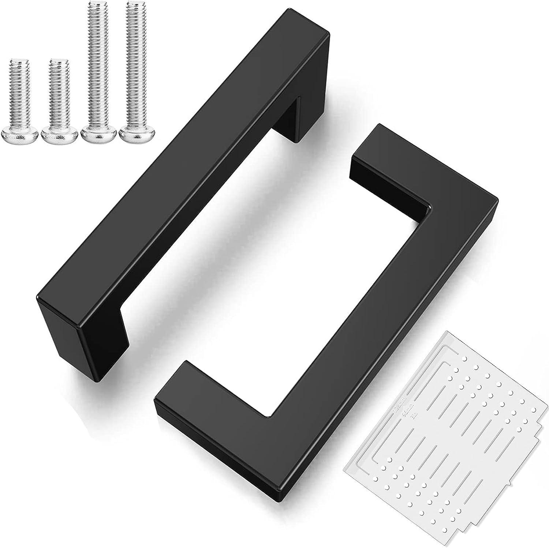 Sanwarm 5 Pack 3 Inch Matte C Black sold Popular out Cabinet Kitchen Square Pulls