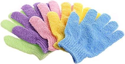 rryilong 1pc guante de baño exfoliante de piel exfoliante Spa masaje ducha cuerpo dos Exfoliante de Desmaquillante