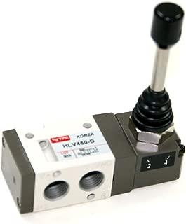 PneumaticPlus HLV461-D, 3 Port 2 Position Air Directional Control Valve 1/4