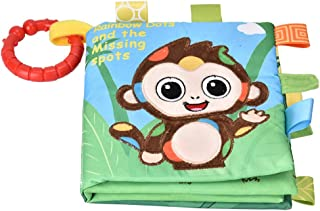 Cloth Book Toy, Rattles Book Toy Cloth Book Built-in Sounder Reusable for 6 Months and Elder(Monkey)