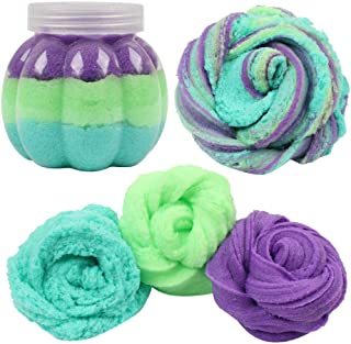 Gbell 50G Fairy Floss Cotton Candy Cloud Slime Color Mixing Crunchy Slime Putty,Scented Stress No Borax Mud Kids Squishy C...