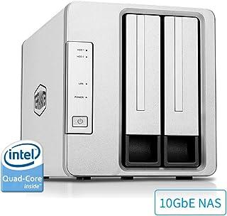 TerraMaster F2-422 10GbE NAS 2-Bay Network Storage Server Intel Quad-core CPU with Hardware Encryption (Diskless)