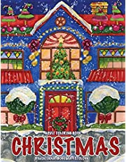 Christmas!: Adult Coloring Book (Stress Relieving Coloring Pages, Coloring Book for Relaxation)