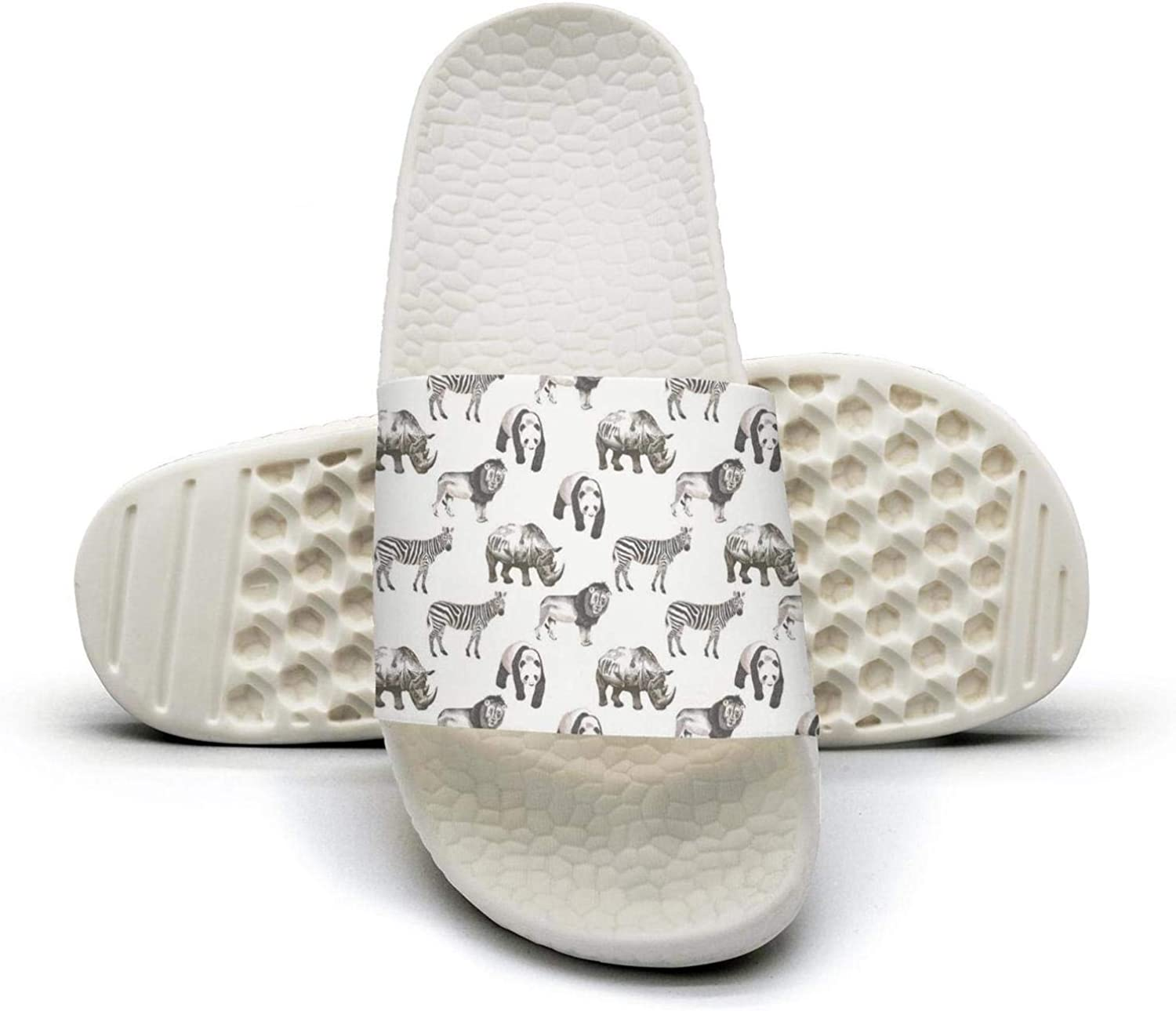 Young Women Animal Lions zerba Panada Rhinoceros Slip on Beach Sandals and Anti-Slip Shower Slipper Comfort Sandals