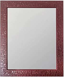 Art Street Marble Red Wall Mirror (12 x 15 Inch)