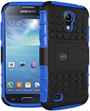 Cable And Case Galaxy S4 Case, Samsung Galaxy s4 Cases [Heavy Duty] Protective Tough Armorbox Dual Layer S4 Phone Cases with Hybrid Hard/Soft Cover [Compare to Otterbox & Lifeproof] - (Blue)