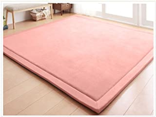 Coral Velvet Area Rugs Play Mat Carpet Crawling Mat for Nursery Baby Toddler Children Kids Room,Yoga Mat Exercise Pads(Ros...