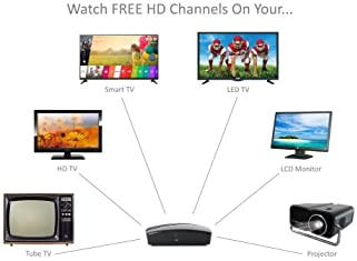 eXuby Digital Converter Box for TV - Digital Antenna - RF & RCA Cable - Complete Bundle to View and Record HD Channel...