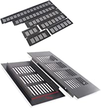 4 stks 80mm Breedte Black Aluminium Air Ventilator Grille voor Closet Shoe Cabinet Airconditioner (Color : W80L300 MM)