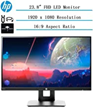 """$179 » 2020 Newest HP 23.8"""" Full HD (1920x1080) IPS LED Monitor for Business and Student, BuildinSpeaker, VESA Mounting, Tilt, HDMI, VGA, 16:9 Aspect Ratio, 5ms, w/Ghost Manta Accessories"""