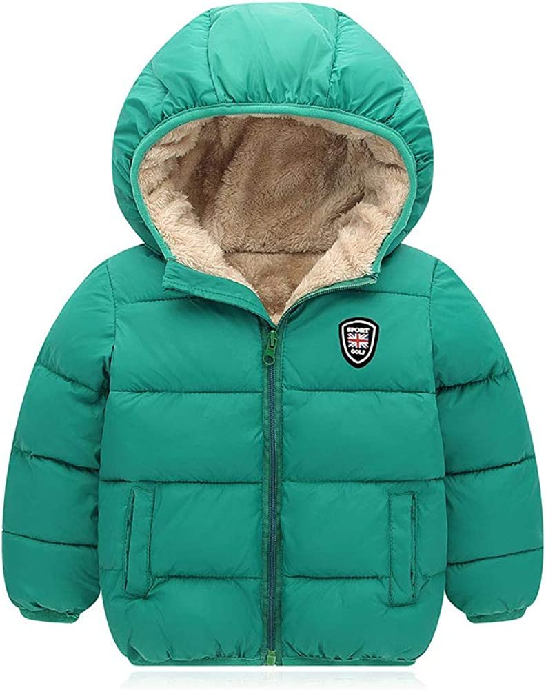Mfmiudole Baby Boys Girls Winter Coats, Thick Hooded Down Kids Infants Toddlers Winter Warm Jacket Outerwear for 2-7 Years