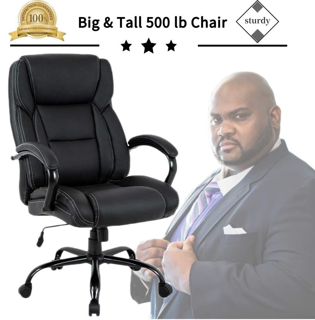 Executive Heavyweight Leather Rolling Ergonomic