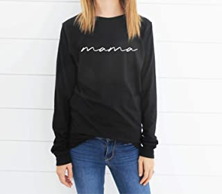 Mama Long Sleeve Shirt - Mom Shirt - Gift For Mom - Mommy - Mama - New Mom Long Sleeve - Baby Shower Gift - Cute Mama Script Shirt - Unisex Long Sleeve