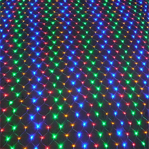 GYC Outdoor Christmas Net Light, LED Waterproof String Lights, Lighting Curtain Lamp with 8 Modes, Patio Garden Decorative Lighting (Colorful) 2 x 2 M/78.75 x 78.75 inch