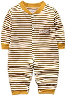 Unisex Preemie Baby Cotton Long Sleeves Fashion Overalls Clothes 0-12M Infant Baby Romper Coming Home Outfit 9-12 Months B...