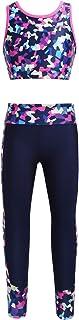 Loodgao طماق رياضية للبنات الصغار سراويل رقص محصول قمم الجمباز الرياضية المطبوعة الرقمية ملابس الرقص الرياضية