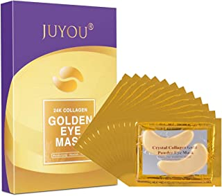 JUYOU 24K Gold Under Eye Patch, Eye Mask, Collagen Eye Patch, Eye Detox Patch For Anti-wrinkles, Puffy Eyes, Dark Circles, Fine Lines Treatment 24Pairs