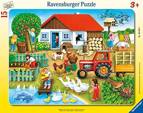 Ravensburger Kinderpuzzle 06020 - Was gehört wohin? - Rahmenpuzzle