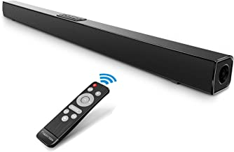 FULOXTECH TV Sound Bar, Upgraded Soundbar for TV 36.5-Inch 40W 2.0 Channel Wireless & Wired Bluetooth Sound Bars Home Theater Surround Speakers Incl Optical Cable,Remote, Black (Upgraded Version)