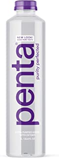 Penta Ultra-Purified Water, 1L (Pack of 12), Oxygen Infused Natural pH Hydration, Solar-Powered 13 Step Purification Process