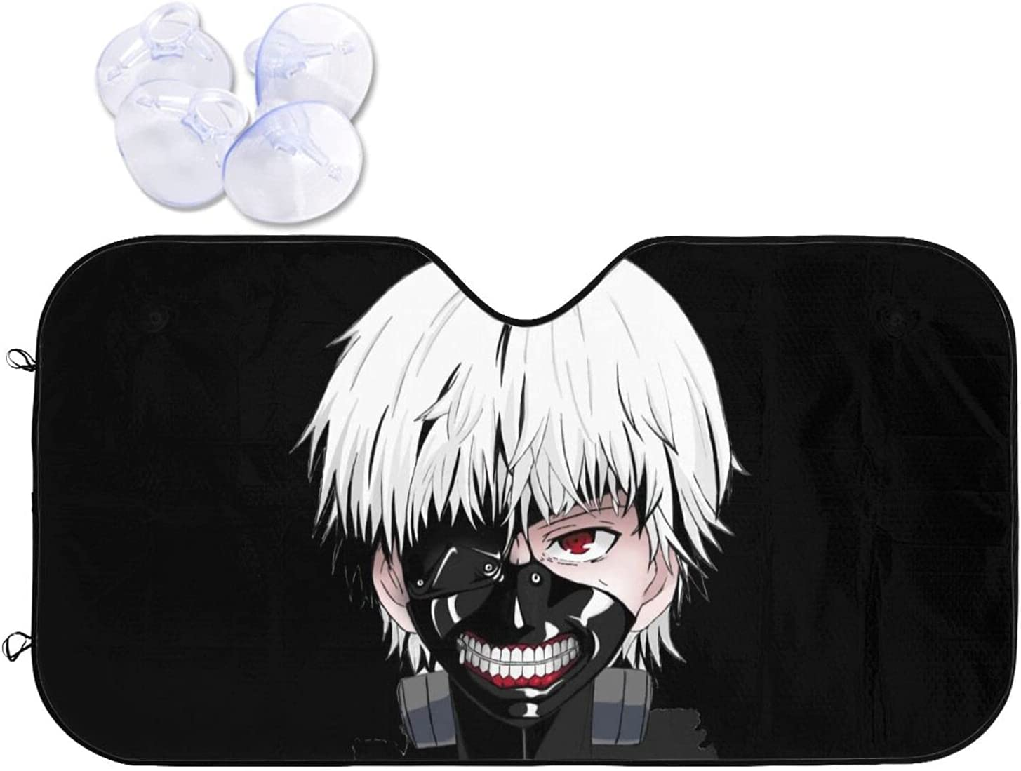 Tokyo Ghoul Car Sunshade Reservation Limited time for free shipping Heat Sun and Windshield Prevention Viso