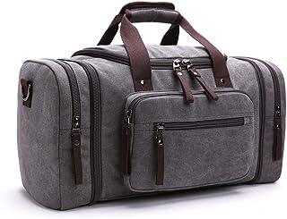 ZLDMYC Segeltuch-Reisetaschen, großes Fassungsvermögen, Handgepäck, Taschen, Herren, Reisetasche, Wochenende