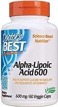 Doctor's Best Alpha-Lipoic Acid, Non-GMO, Gluten Free, Vegan, Soy Free, Promotes Healthy Blood Sugar, 600 mg, 60 Veggie Caps