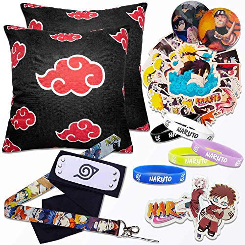 Anime Cosplay Headband,Throw Pillow Covers,Stickers,Bracelet,Lanyard,Button Pins-Ideal Anime Gift Set