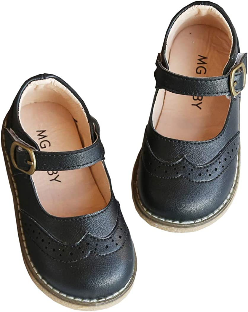 DADAWEN Girl's Classic Mary Jane School Uniform Shoes Flat Dress Shoes