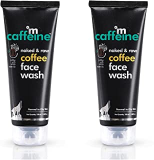 mCaffeine Naked & Raw Coffee Face Wash (Pack Of 2), 100 ml | White Water Lily | Deep Cleanser | Oily/Normal Skin | Paraben...