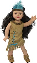 18 inch Doll Clothes   Native American Indian Costume   American Girl Doll Costume Fits Kaya   Dress with Fringe   Embellished Trim   Boots   Headband  Designed in USA for American Girl 18 inch Dolls