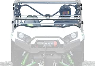 SuperATV Heavy Duty Scratch Resistant Flip Windshield for Kawasaki Teryx 800/800 4 (2016+) - Can be Set to Open, Vented, or Closed - Easy to Install!